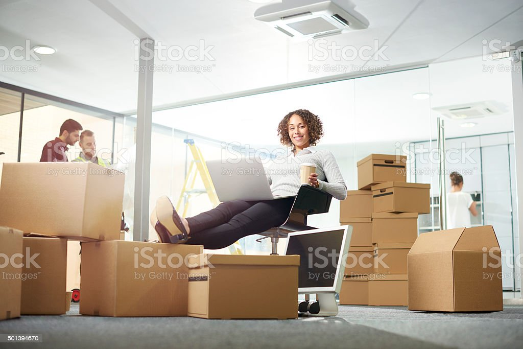 new office space for business stock photo
