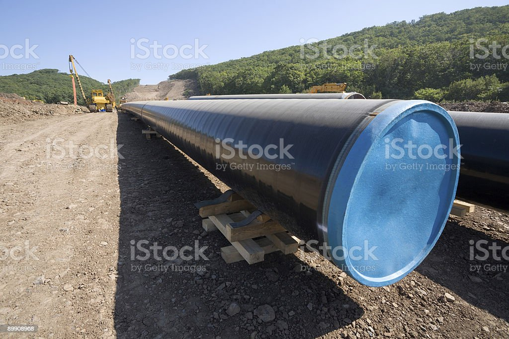new oil pipeline. royalty-free stock photo