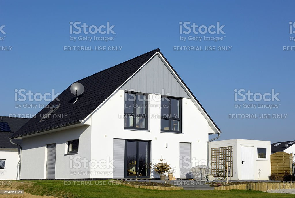 New one family house stock photo
