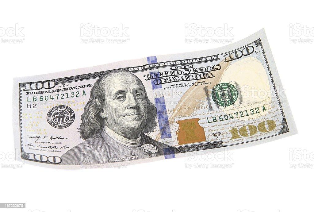 New One Hundred Dollar Bill stock photo