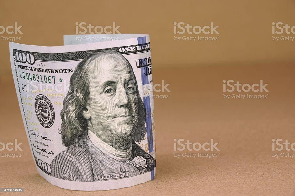 New One Hundred USA Dollar Bill stock photo
