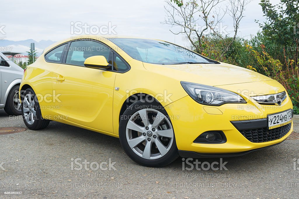 New Opel Astra. stock photo