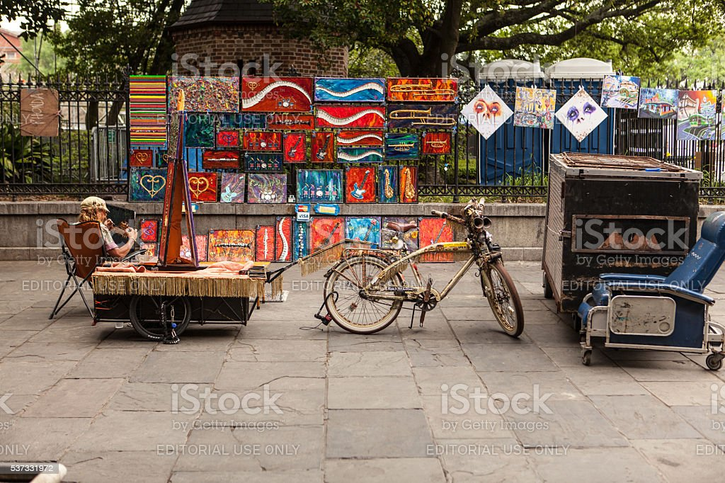 New Orleans artist festival stock photo