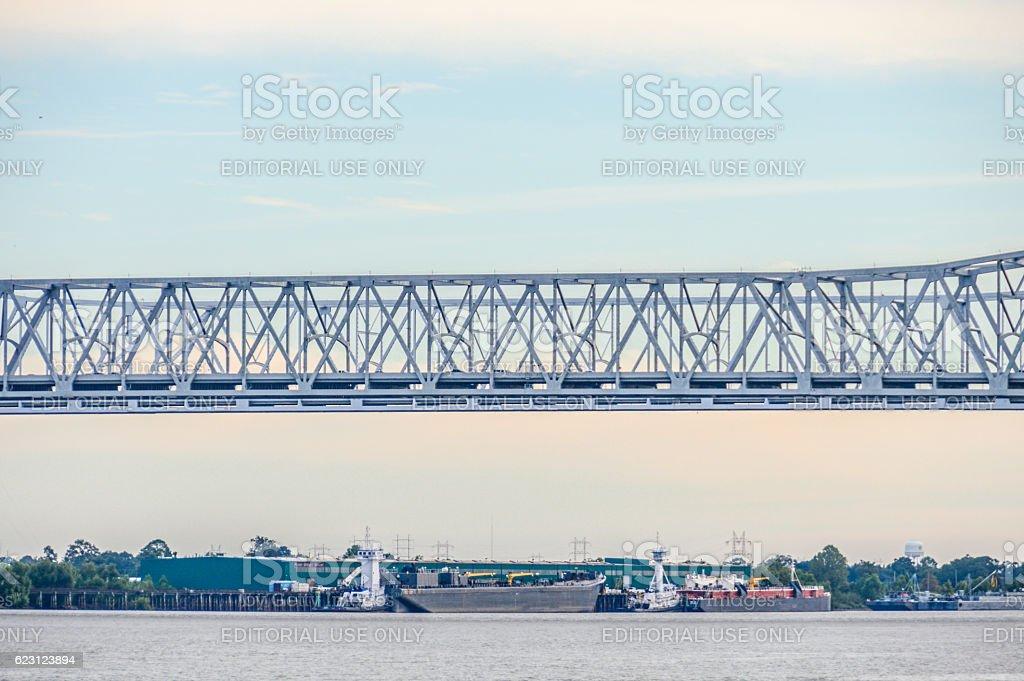 New Orleans Bridge - Crescent City Connection stock photo