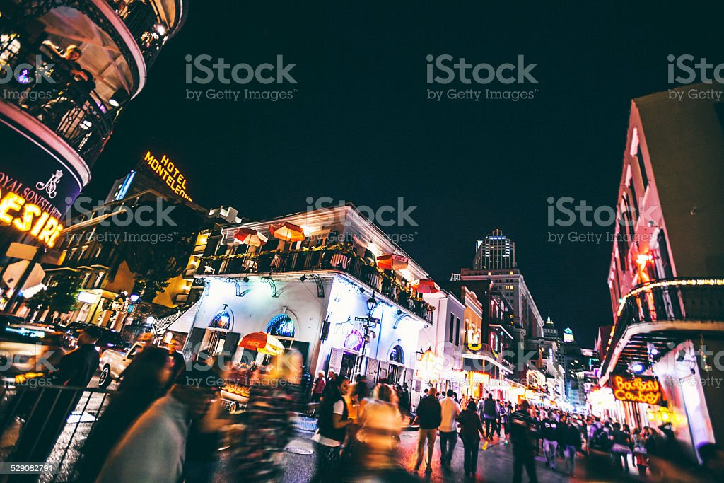 New Orleans by night. stock photo