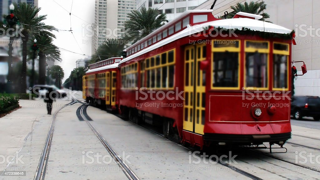 New Orleans Cable Car stock photo