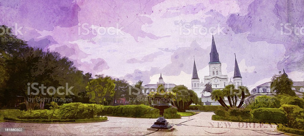 New Orleans Cathedral French Quarter royalty-free stock photo