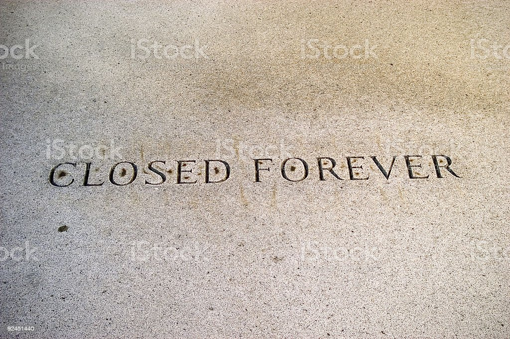 New Orleans : Closed Forever stock photo