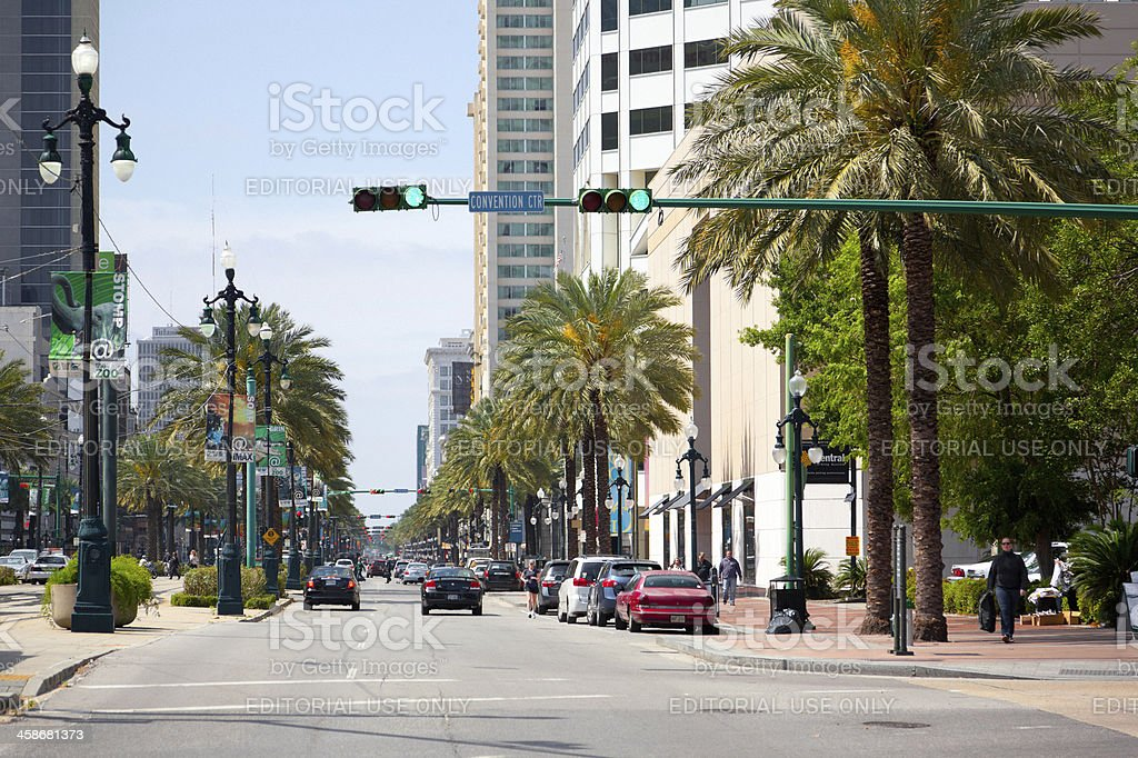 New Orleans Downtown, Canal Street royalty-free stock photo