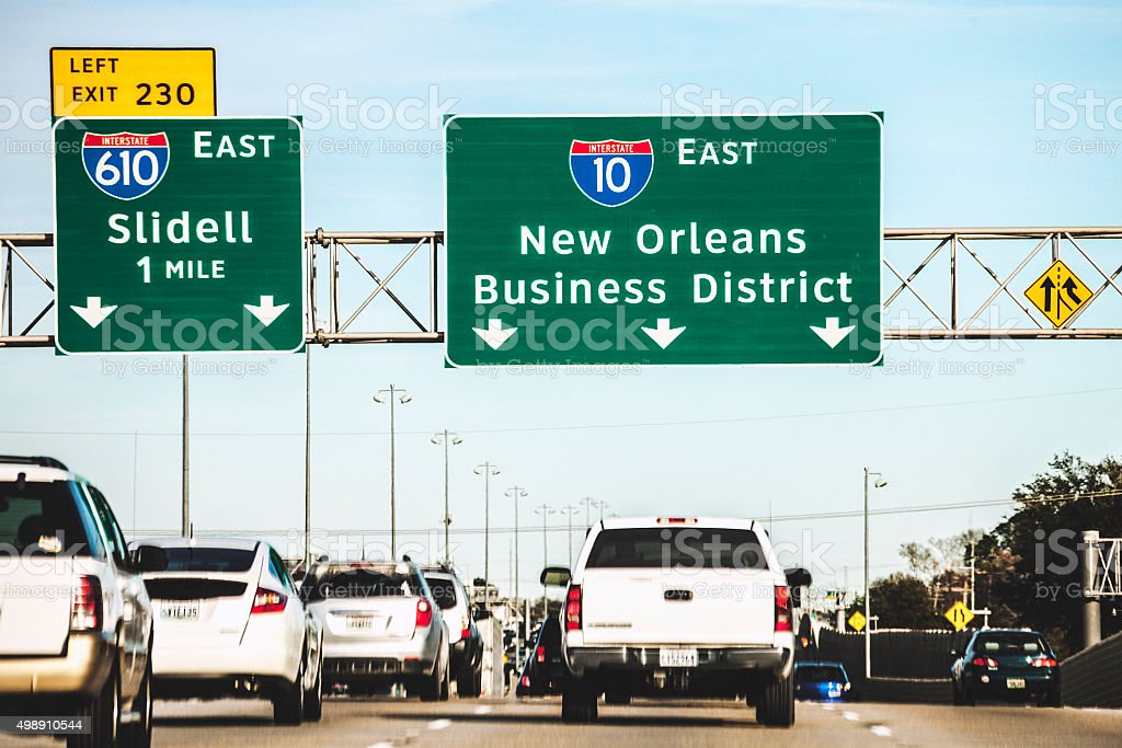 New Orleans freeway. stock photo