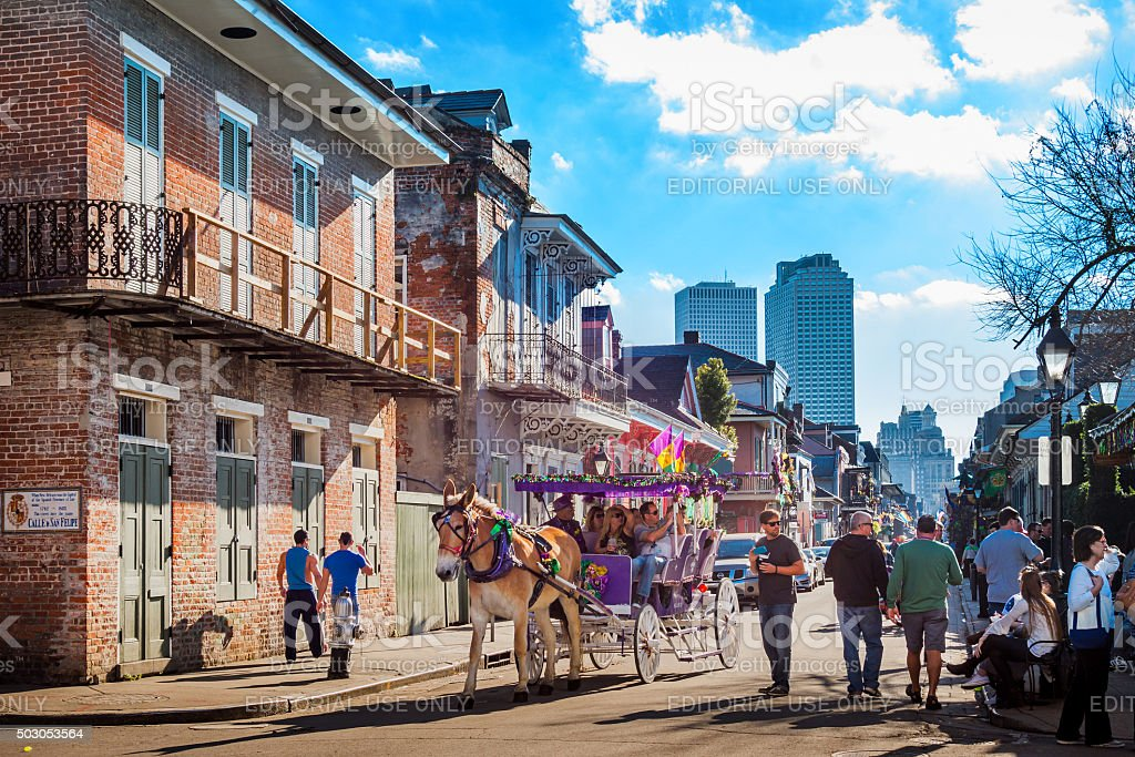 New Orleans French Quarter Louisiana USA stock photo