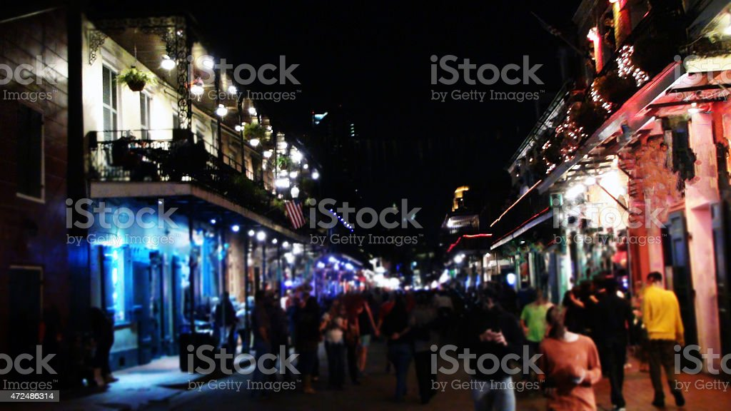 New Orleans French Quarter Nightlife stock photo