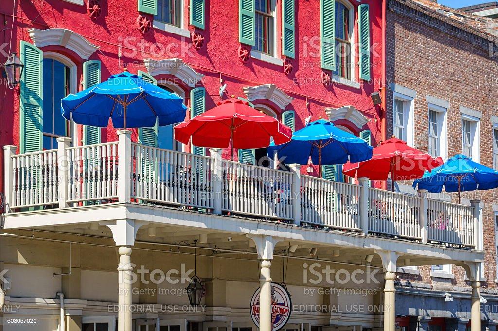 New Orleans French Quarter Restaurant Louisiana USA stock photo