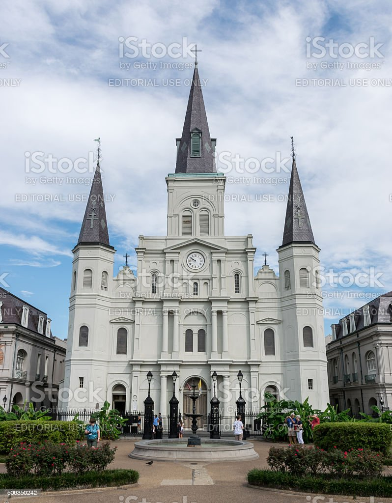 New Orleans French Quarter Saint Louis Cathedral stock photo