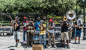 New Orleans French Quarter Street Jazz Musician Street Performers