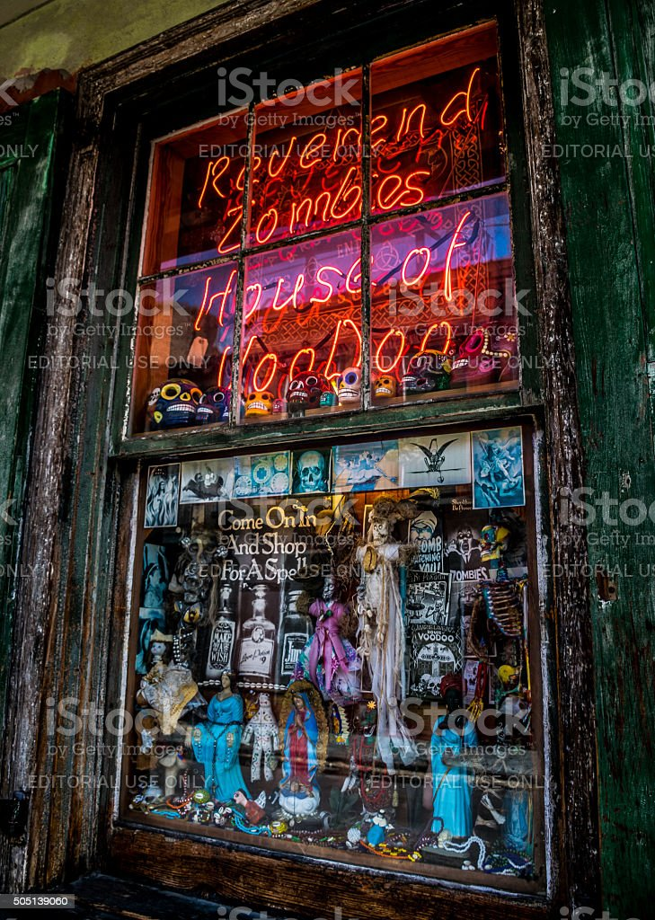 New Orleans French Quarter Voodoo Shop stock photo