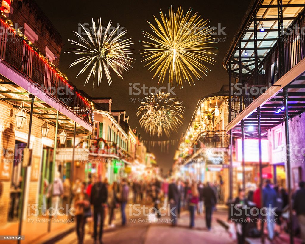 new orleans french quartier for the new year holiday stock photo