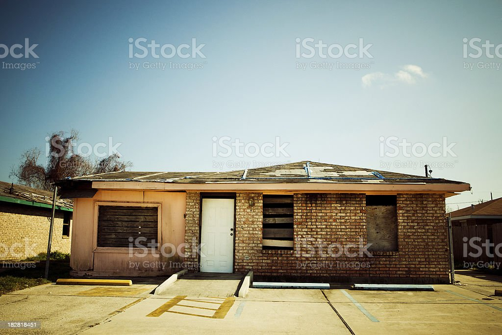 New Orleans house (after Hurricane Katrina) royalty-free stock photo