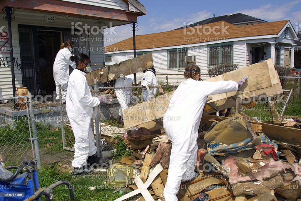 New Orleans Hurricane Katrina Recovery, March, 2006 stock photo