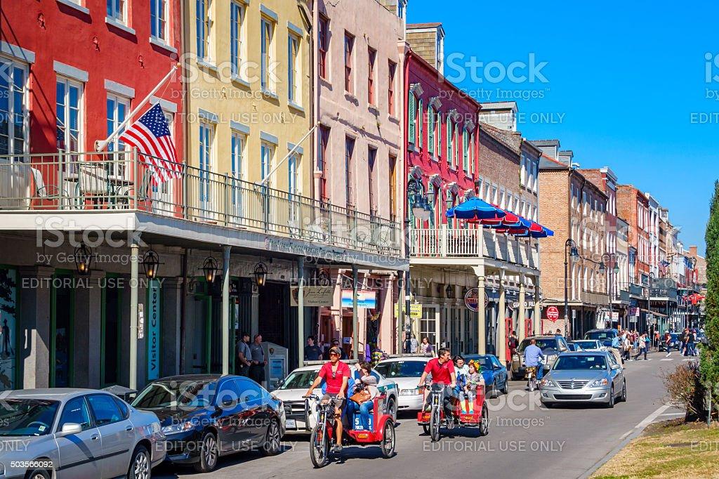 New Orleans Louisiana Pedicabs stock photo