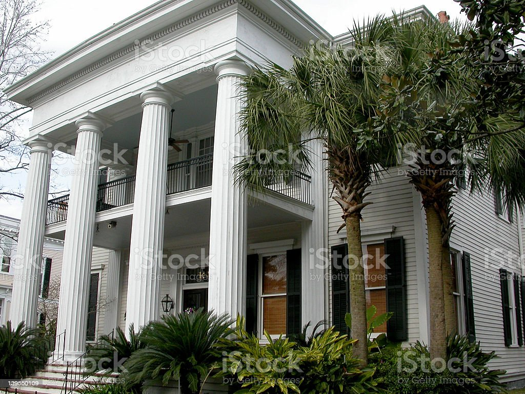 New Orleans Mansion stock photo