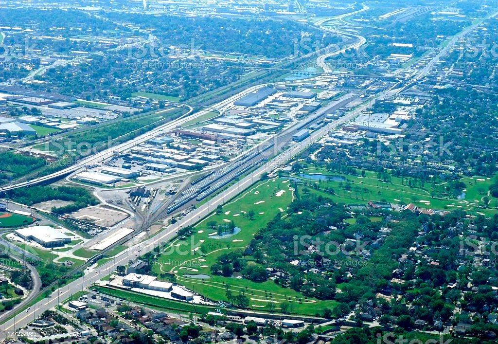New Orleans Metairie, aerial stock photo