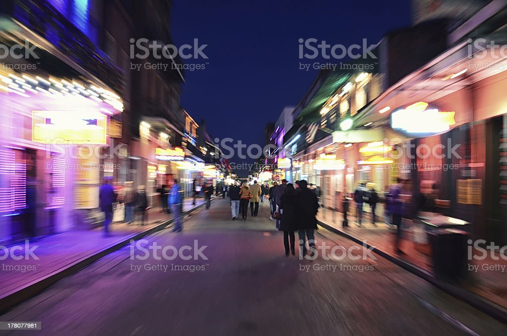 New Orleans Nightlife stock photo