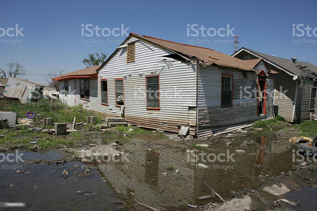 New Orleans Ninth Ward homes after hurricane Katrina stock photo