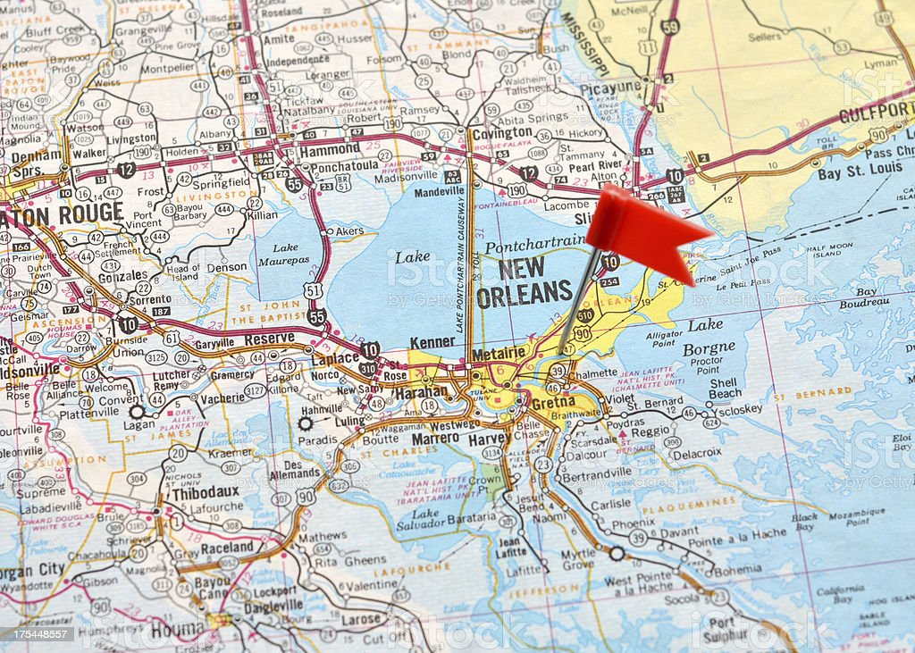 New Orleans on the Map stock photo
