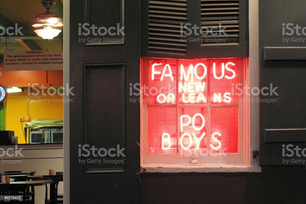 New Orleans Po Boys royalty-free stock photo