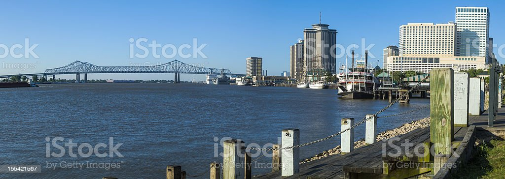 New Orleans River Front Panorama stock photo