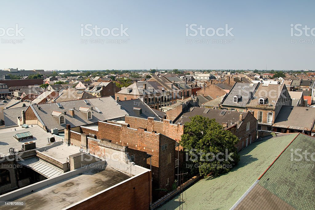 New Orleans Rooftops royalty-free stock photo