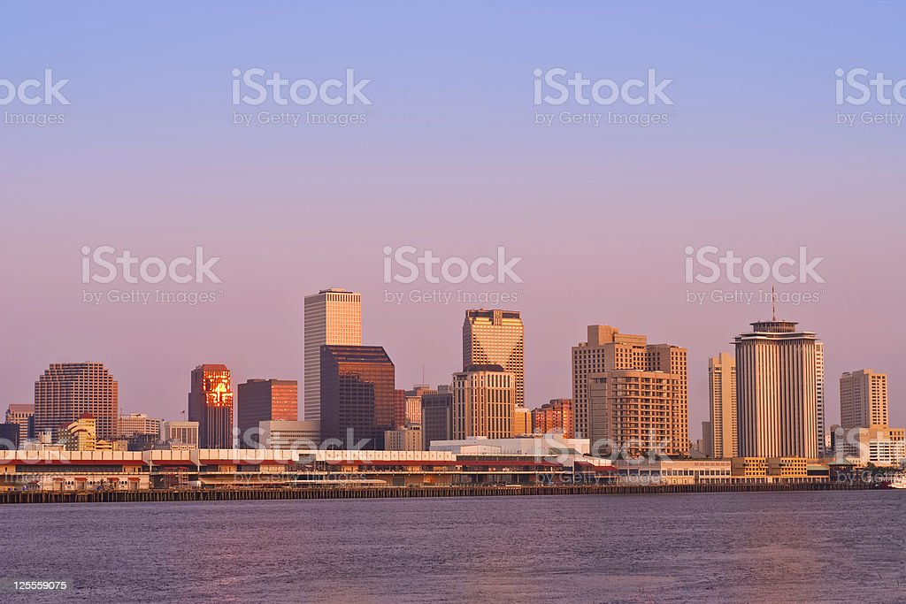 New Orleans Skyline During Sunrise royalty-free stock photo