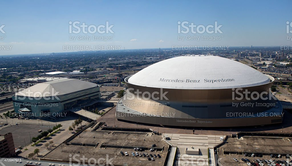 New Orleans Sports and Entertainment Complex (panoramic) royalty-free stock photo