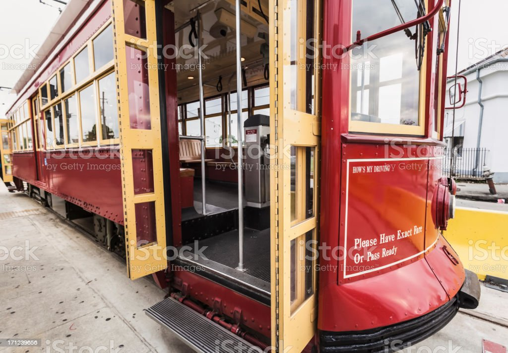 New Orleans Streetcar - All Aboard! royalty-free stock photo