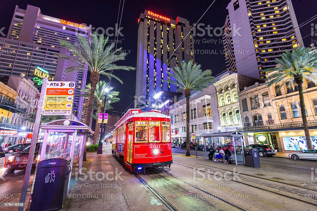 New Orleans Streetcar stock photo