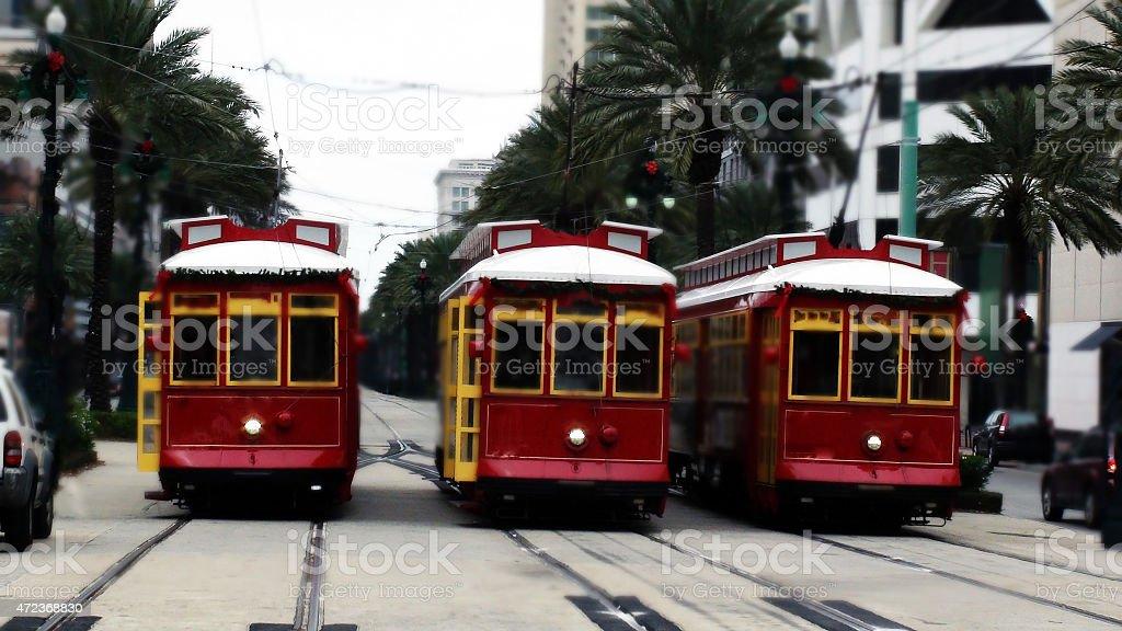 New Orleans Streetcar Transportation stock photo