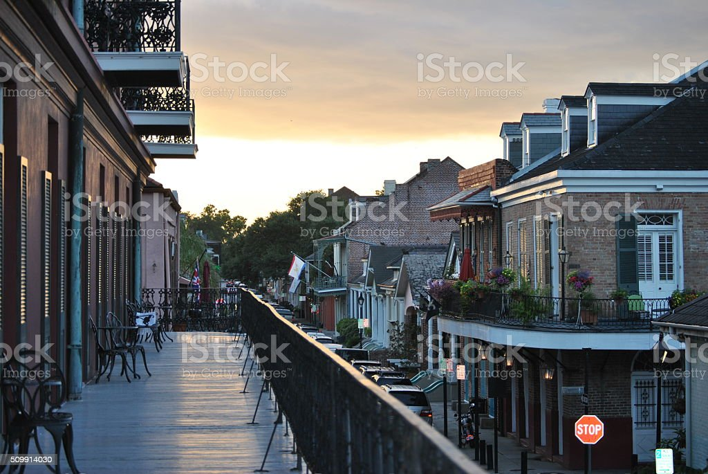 New Orleans Sunset stock photo