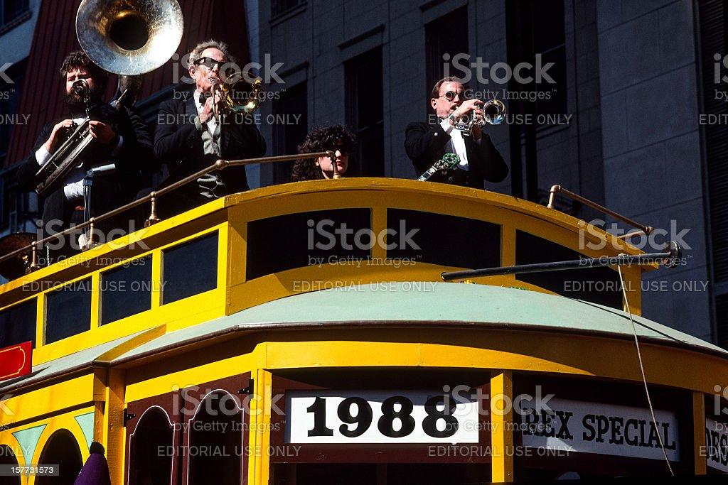 New Orleans, USA: Mardi Gras 1988 stock photo