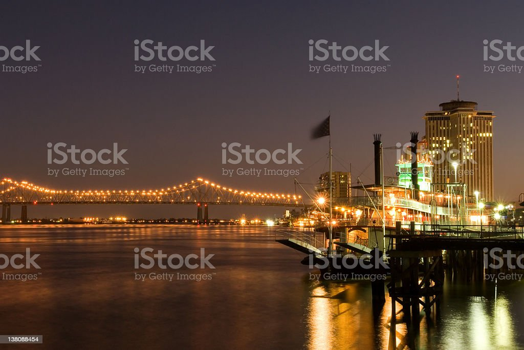 New Orleans waterfront stock photo