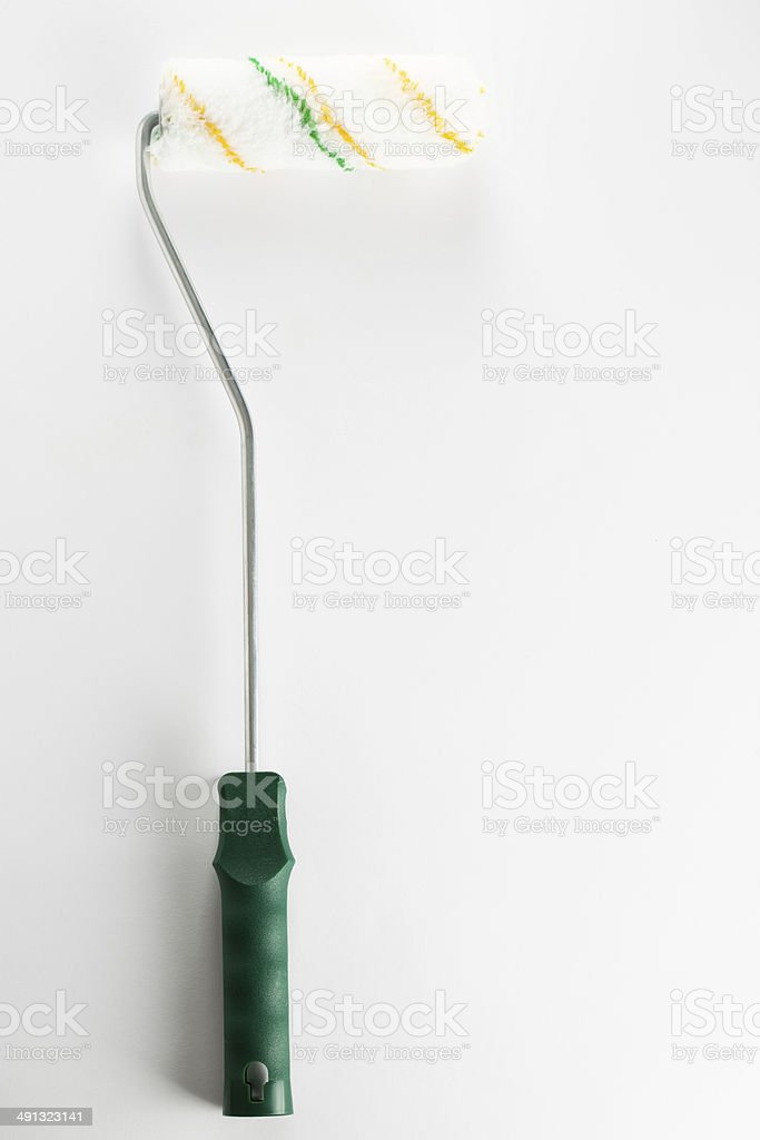 New paint roller on white royalty-free stock photo
