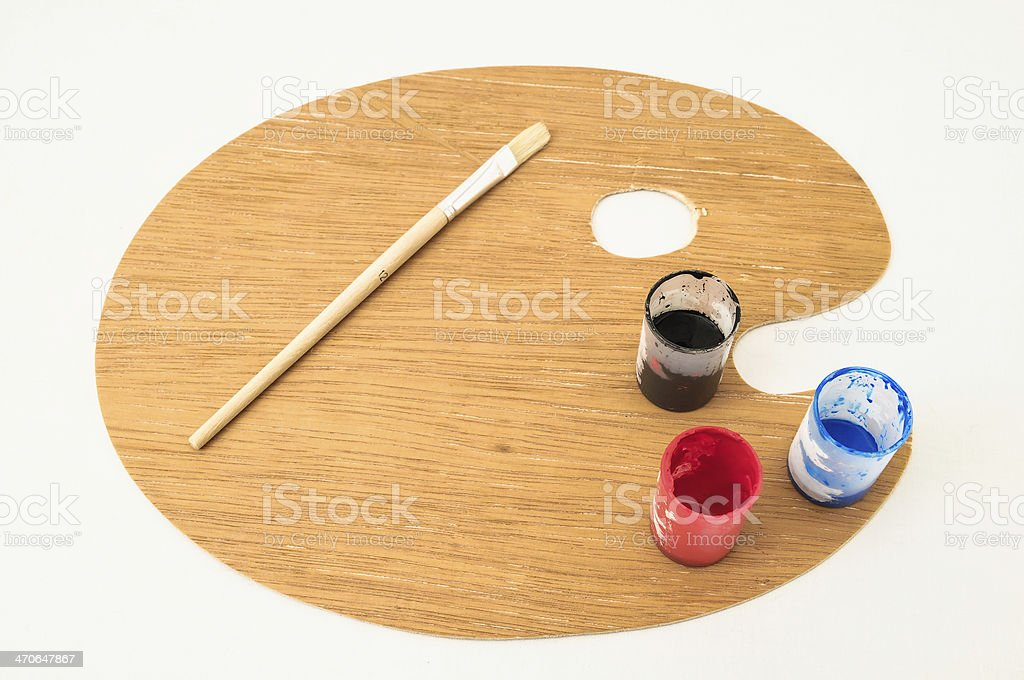 New Painting Wooden Palette stock photo