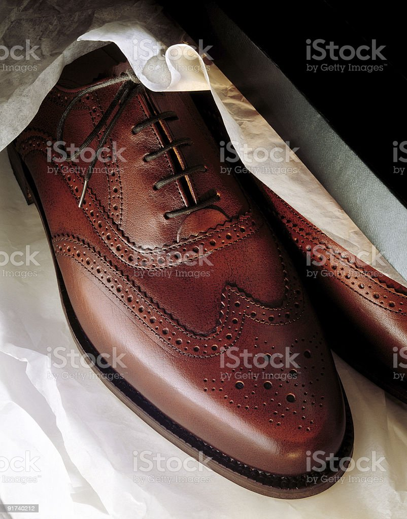 new pair of mens shoes stock photo