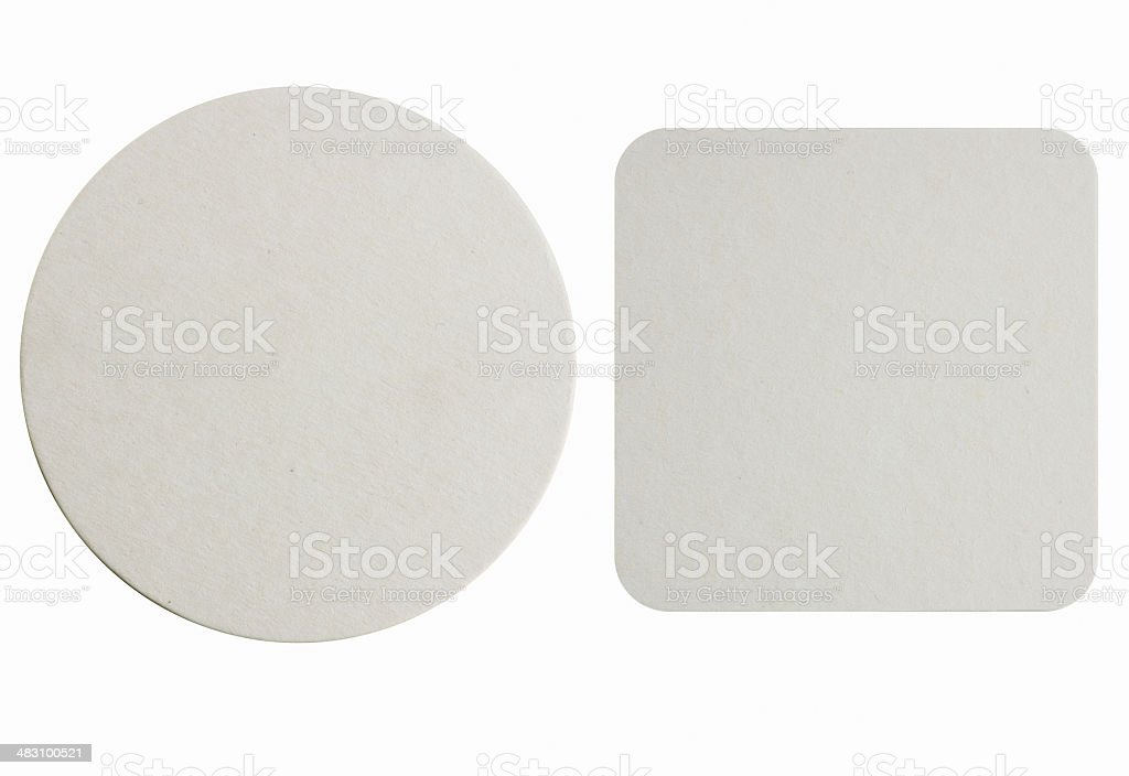 New paper coasters stock photo
