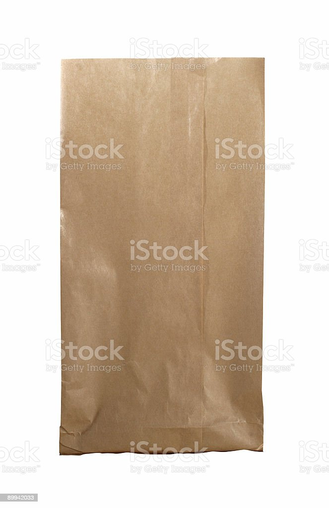 New paperbag with path royalty-free stock photo
