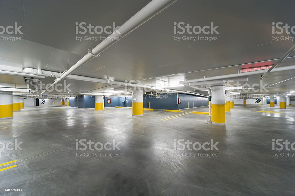 New parking garage stock photo