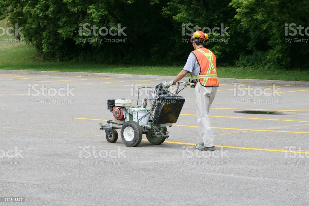 New parking lot royalty-free stock photo