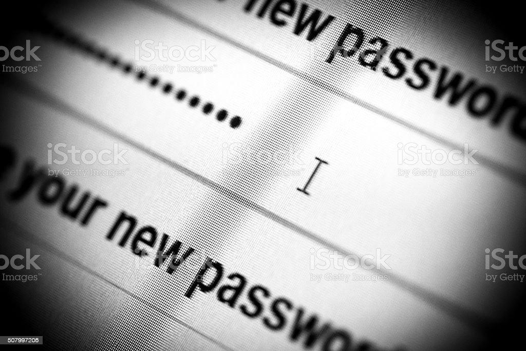 New Password stock photo
