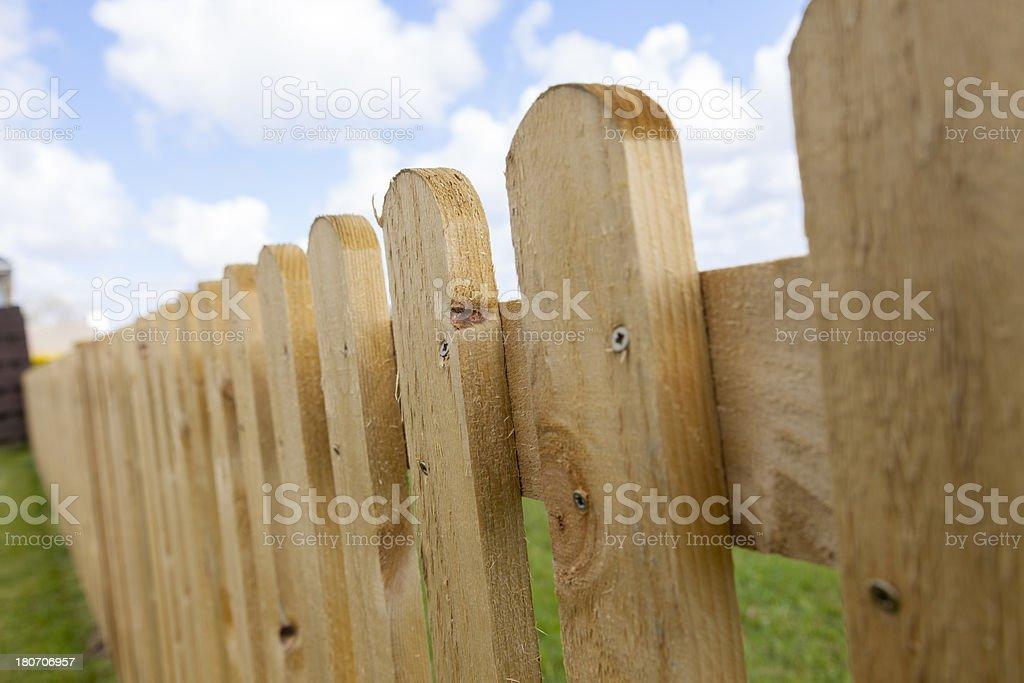 New Picket Fence stock photo