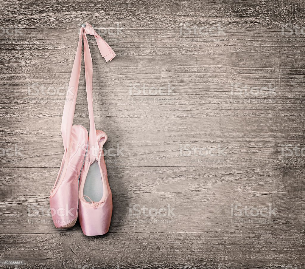 new pink ballet shoes stock photo